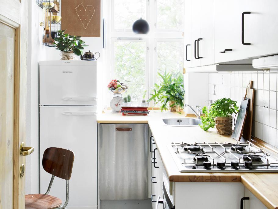 Cocina escasa: todo en orden