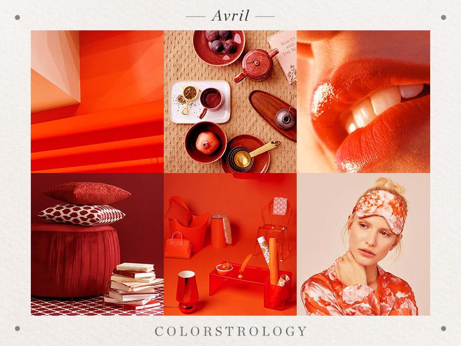 Avril : rouge carmin
