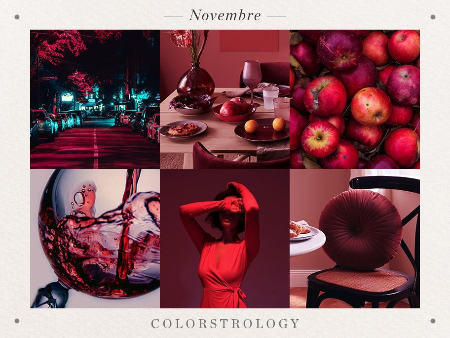 Novembre : rouge pourpre
