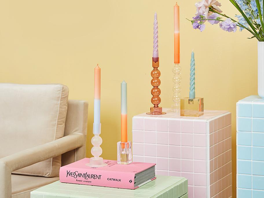 Bougies torsadées & colorées
