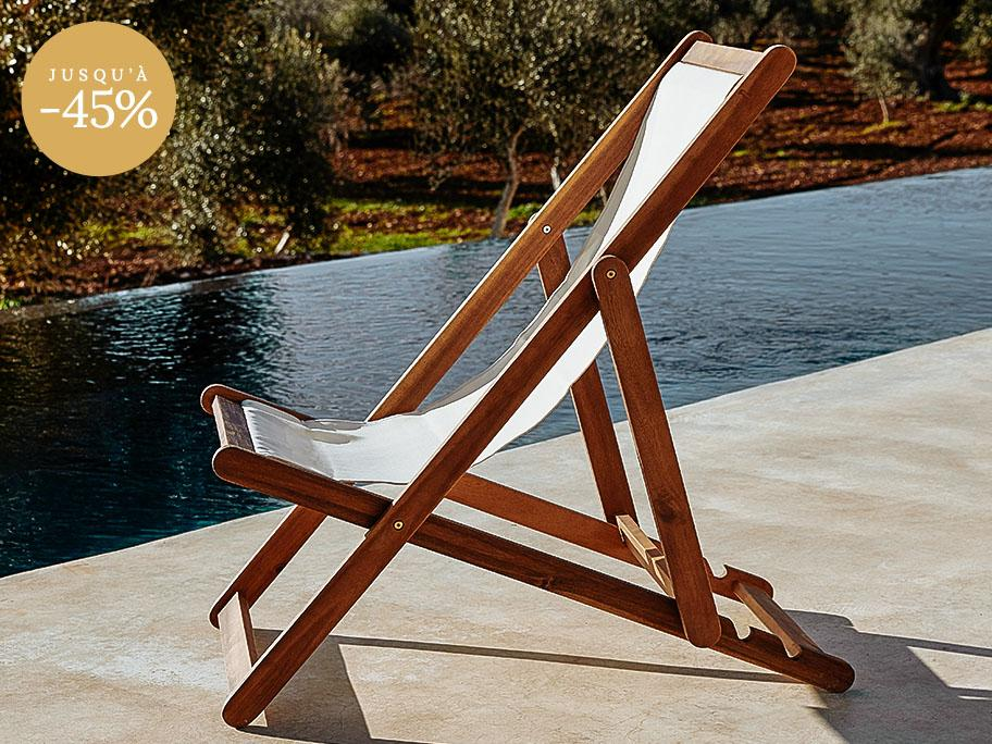 Chaises longues et assises