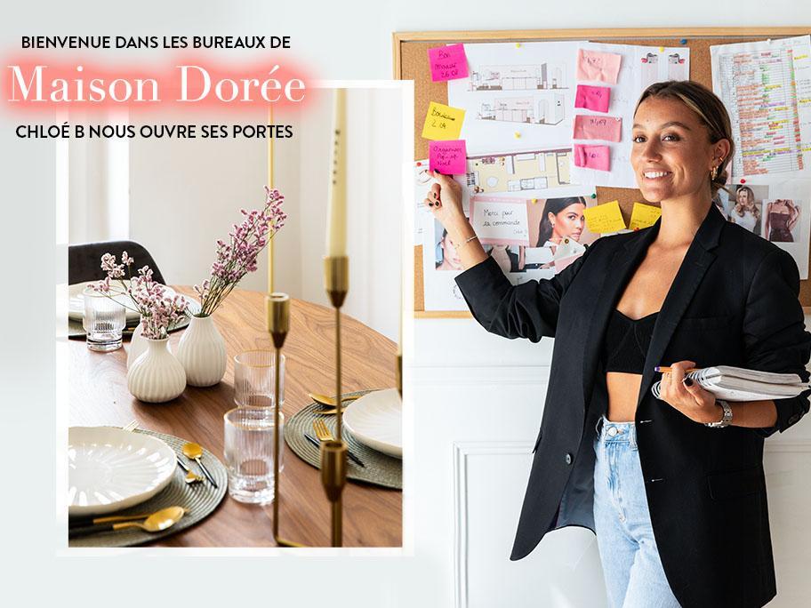 Chloé B : bureau glam et stylé