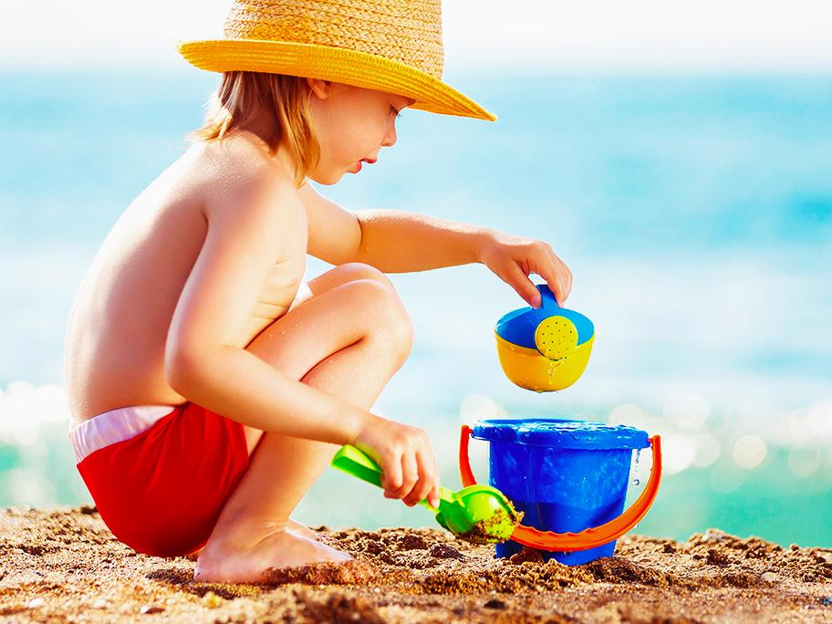 Bimbi in Spiaggia