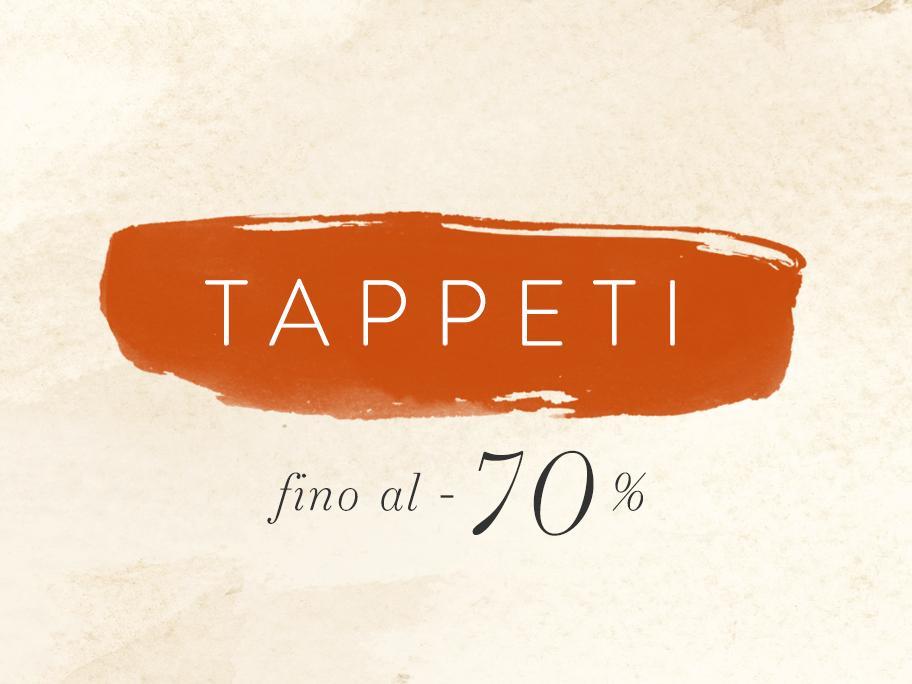 Tappeti fino al -70%