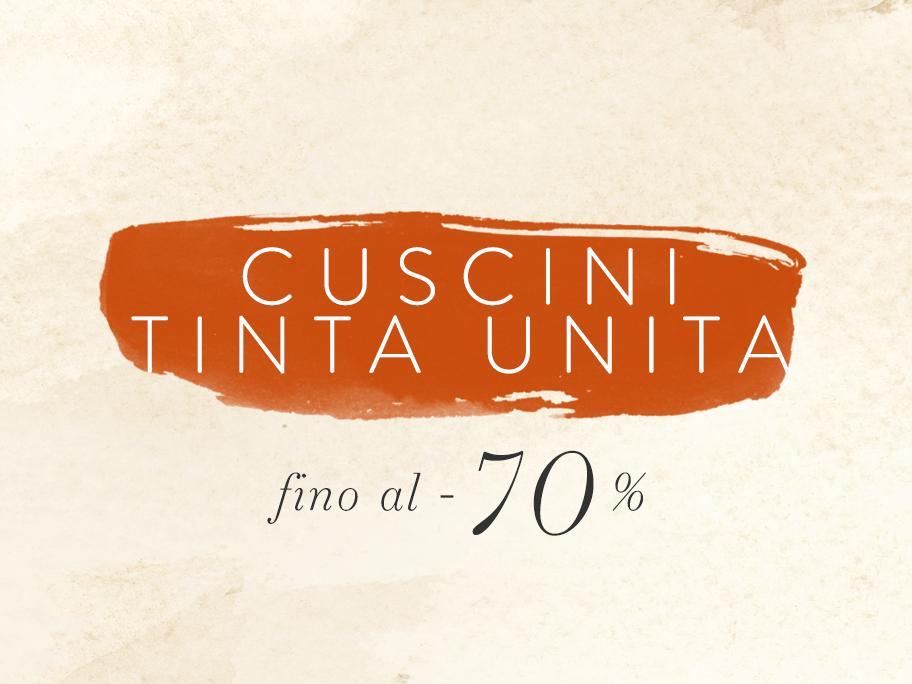 Cuscini Tinta Unita fino -70%