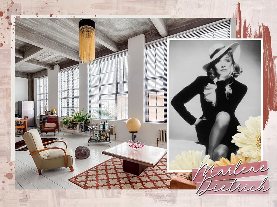 Inspired by Marlene Dietrich
