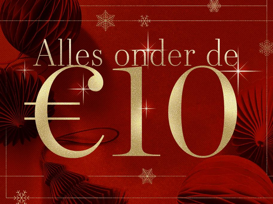 Alles onder de €10