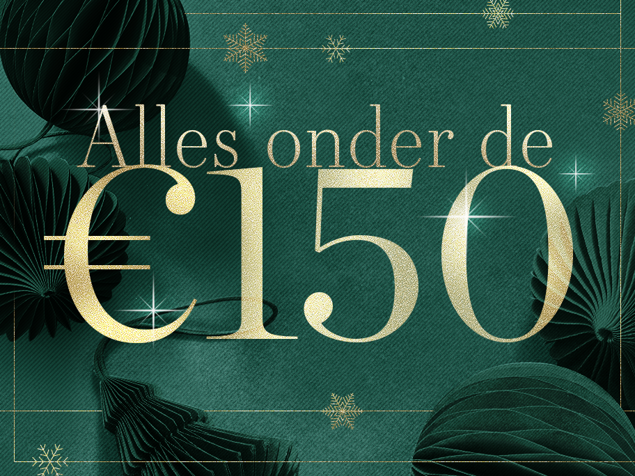 Alles onder de €150