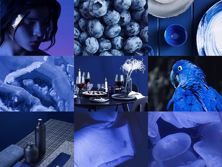 Helder blauw