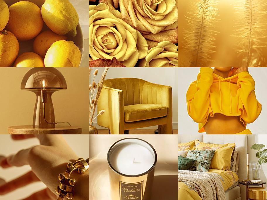 Zonnig geel