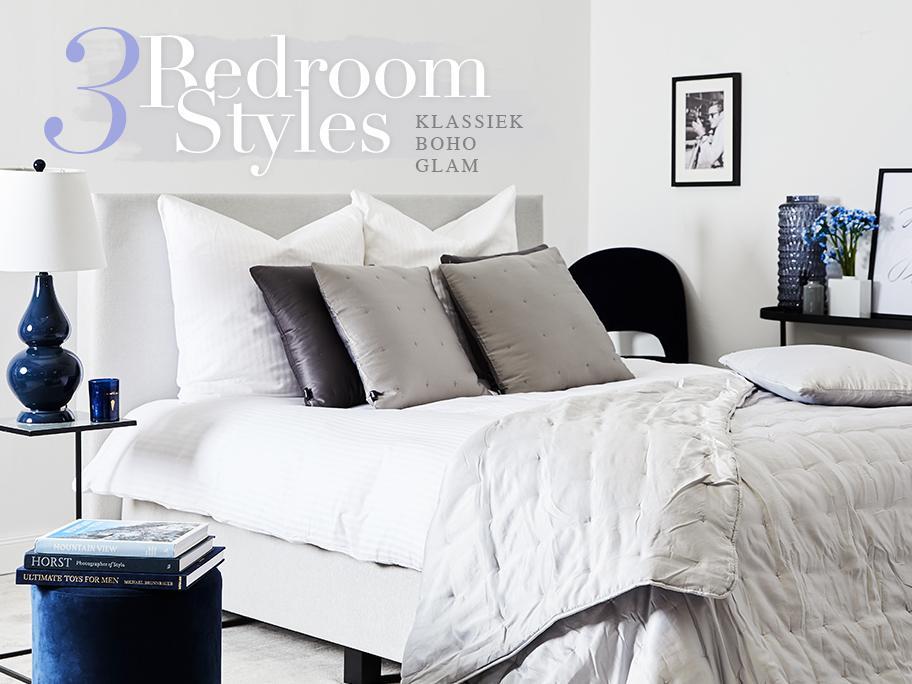 3x stylen: wit bedlinnen