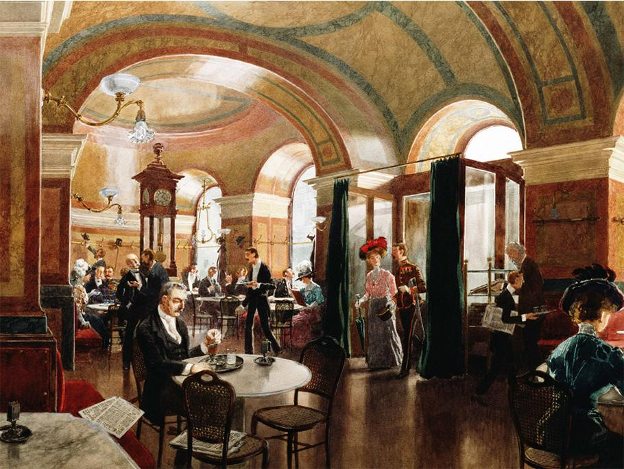In het Weense koffiehuis