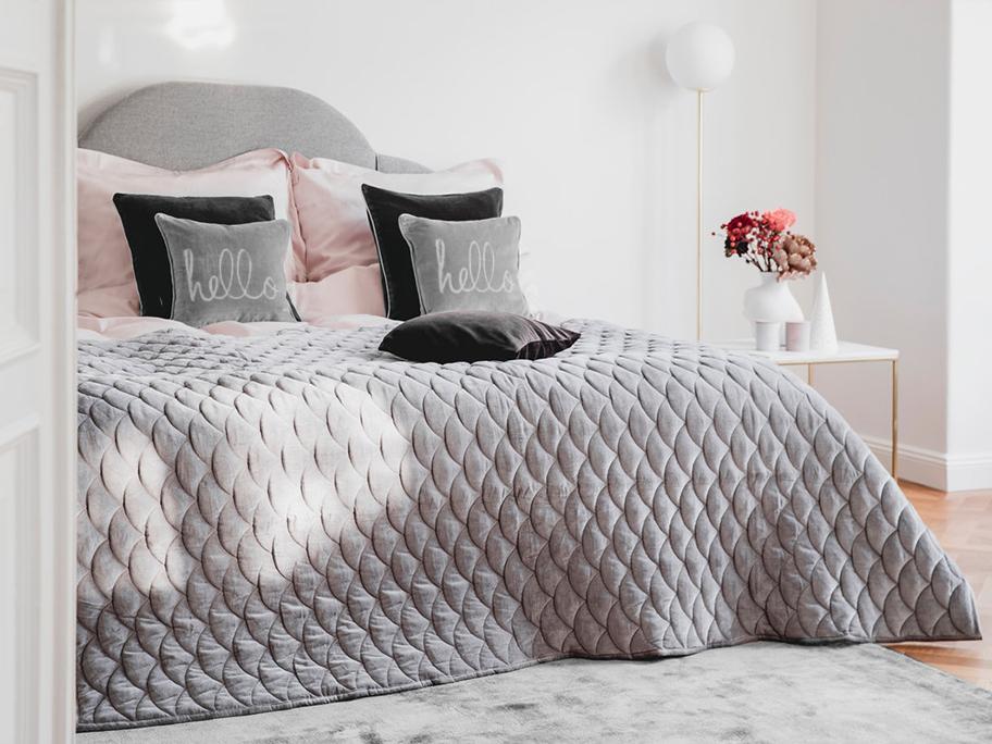 All shades of grey bedroom