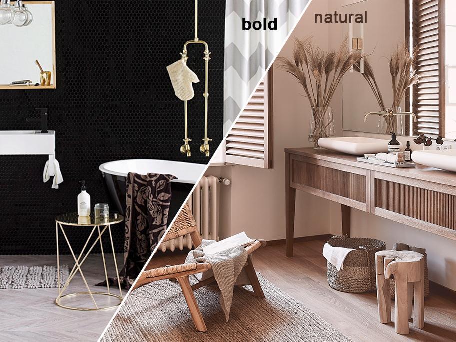 Bold vs Natural Bathroom