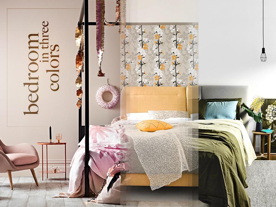 Sypialnia w 3 odsłonach