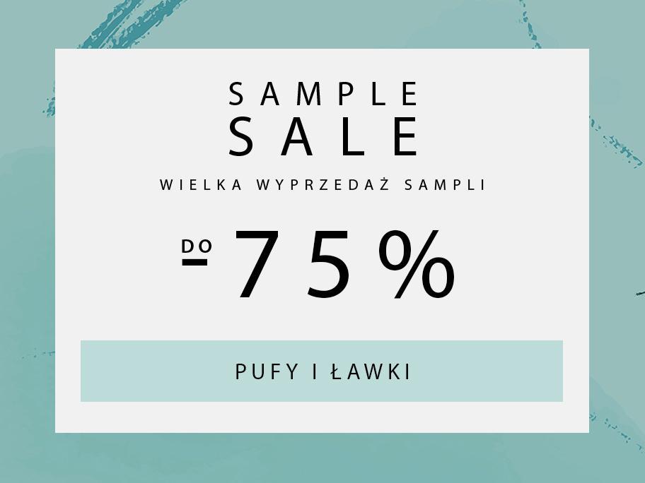 SAMPLE SALE Pufy, lawki