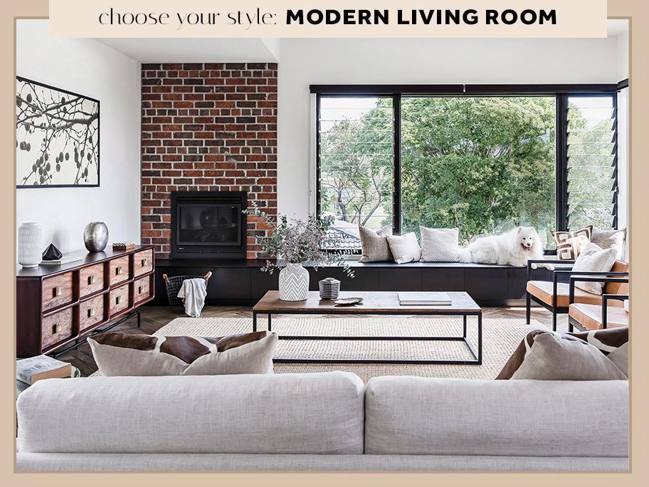 Salon w stylu Modern