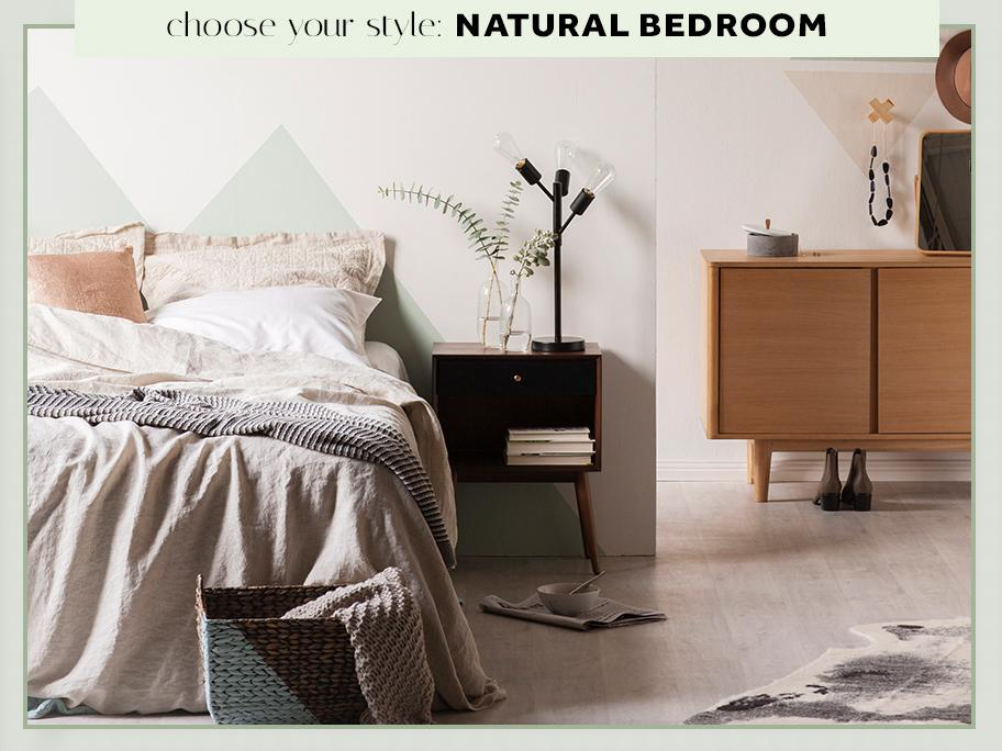 Sypialnia w stylu Natural
