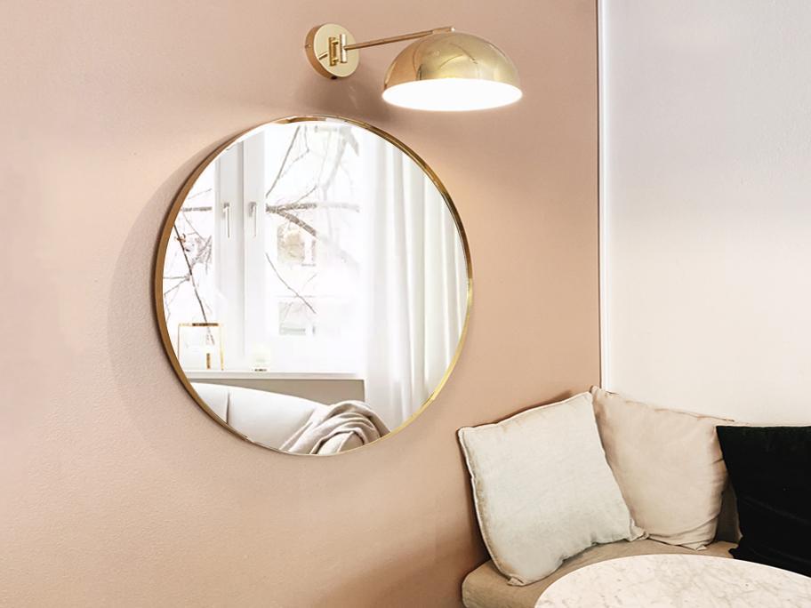 Stylowe lustra i lampy