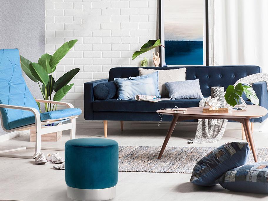 Błękitny salon na 5 sposobów