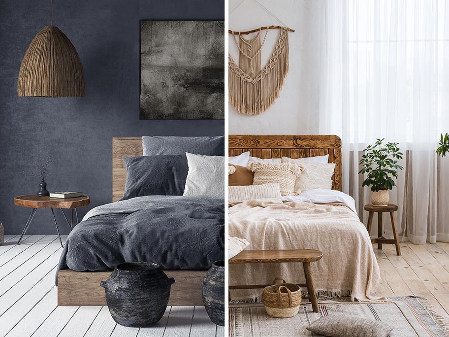 Boho bedroom: Dark vs Creamy
