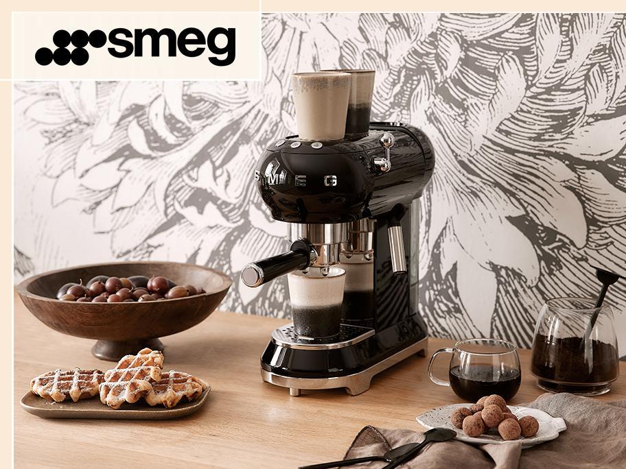 SMEG: Ekspresy, młynki do kawy