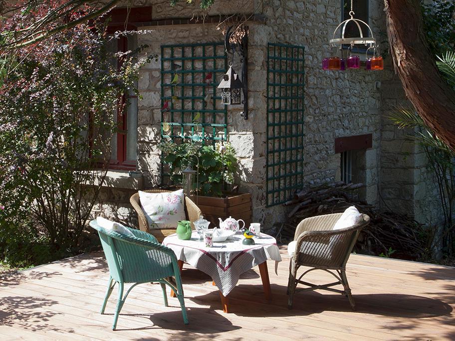 Ogród w stylu British backyard