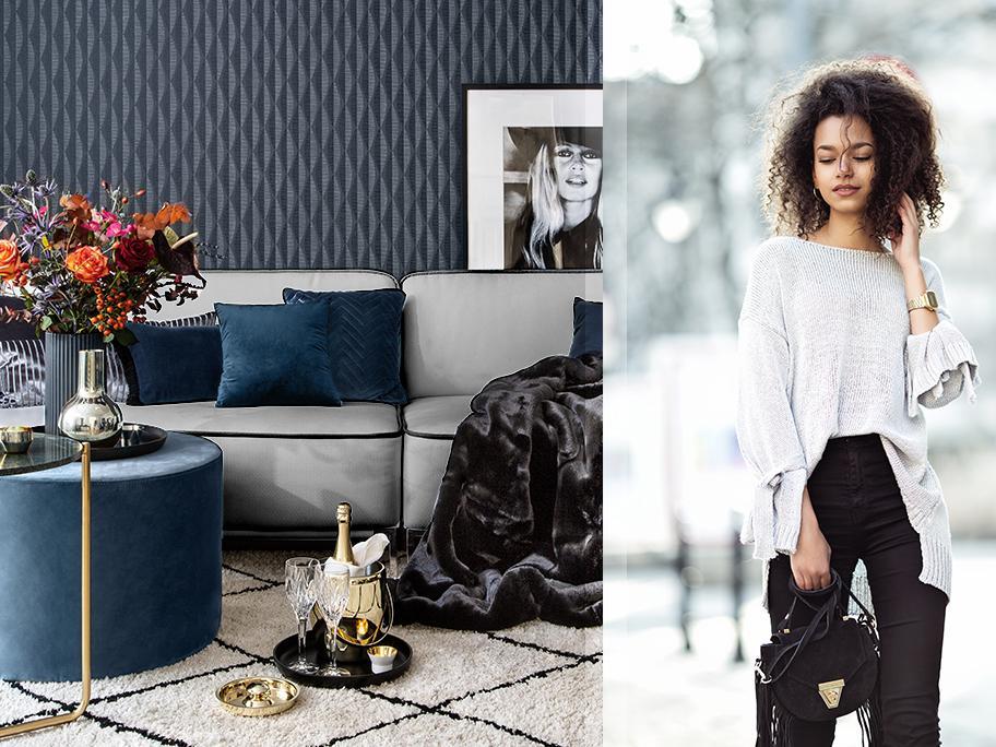 Stylish woman: navy & elegant