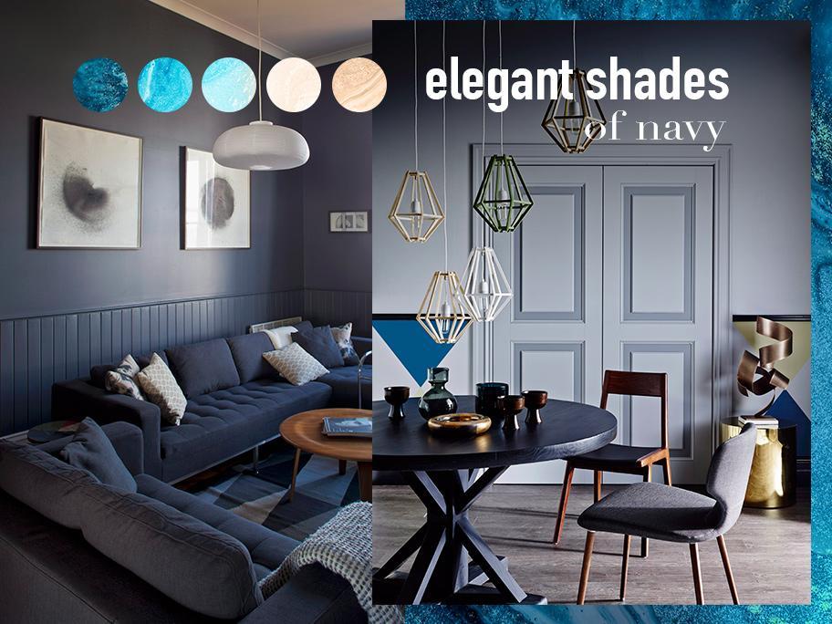 Elegant shades of navy