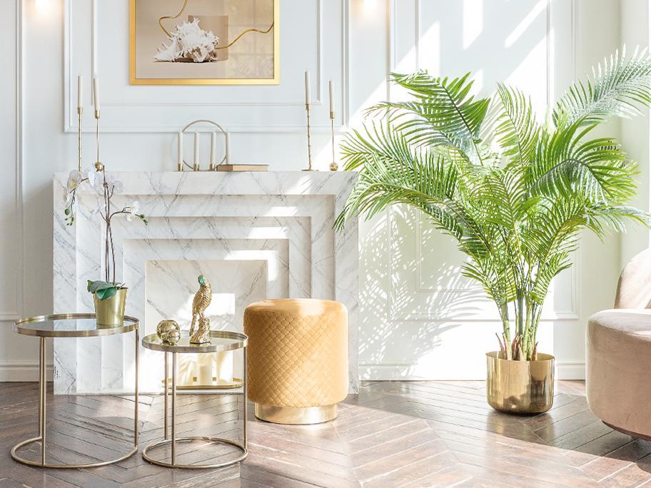 Salon w kolorze Golden Ochre