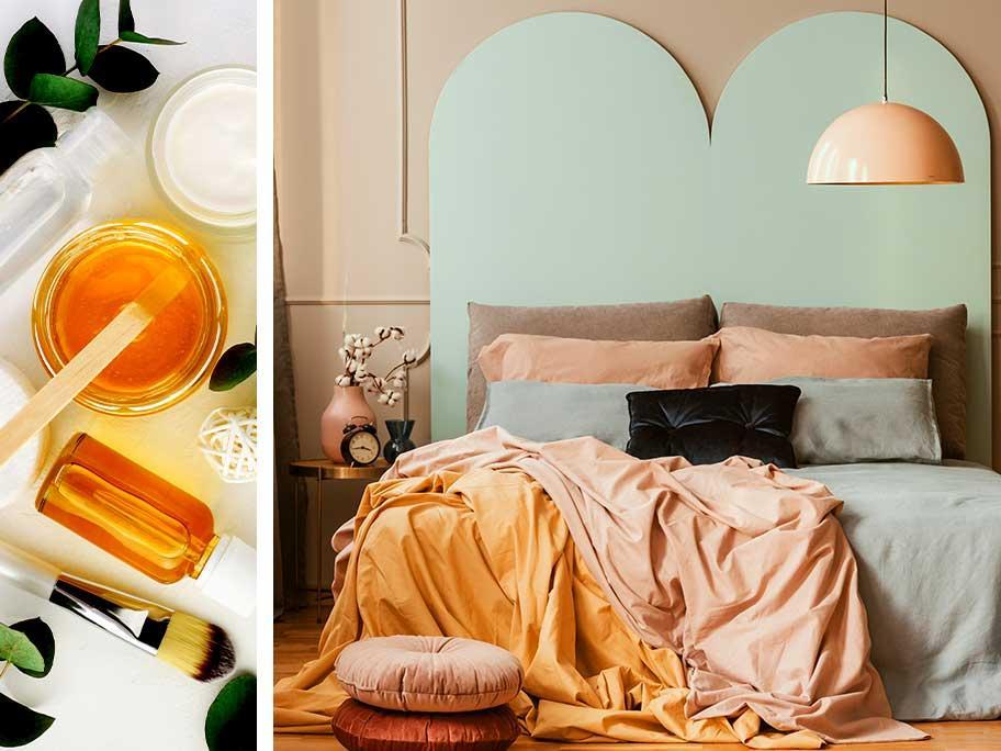 Sypialnia w miodowej palecie