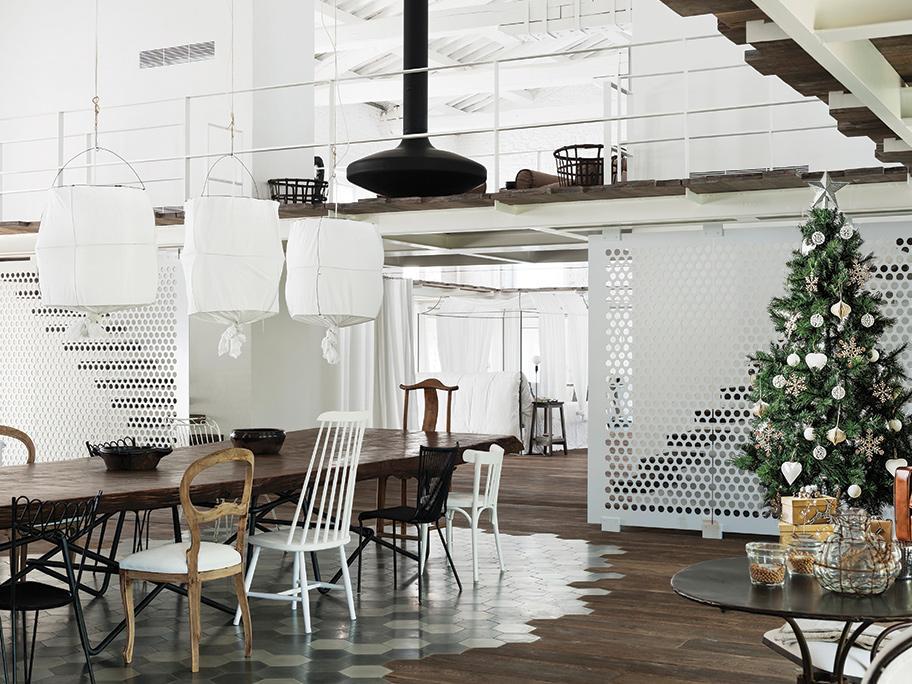 Świąteczny loft pełen ciepła