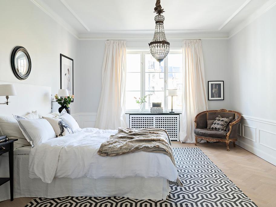 Sypialnia jak w pięknym hotelu