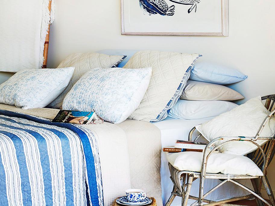 Sypialnia w stylu marine