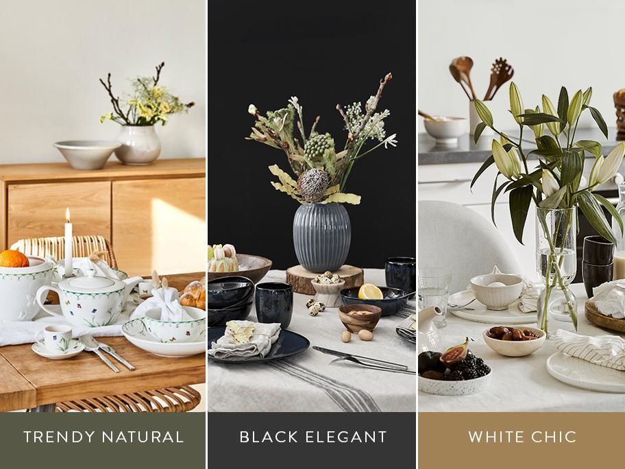 Wielkanocny stół w 3 stylach