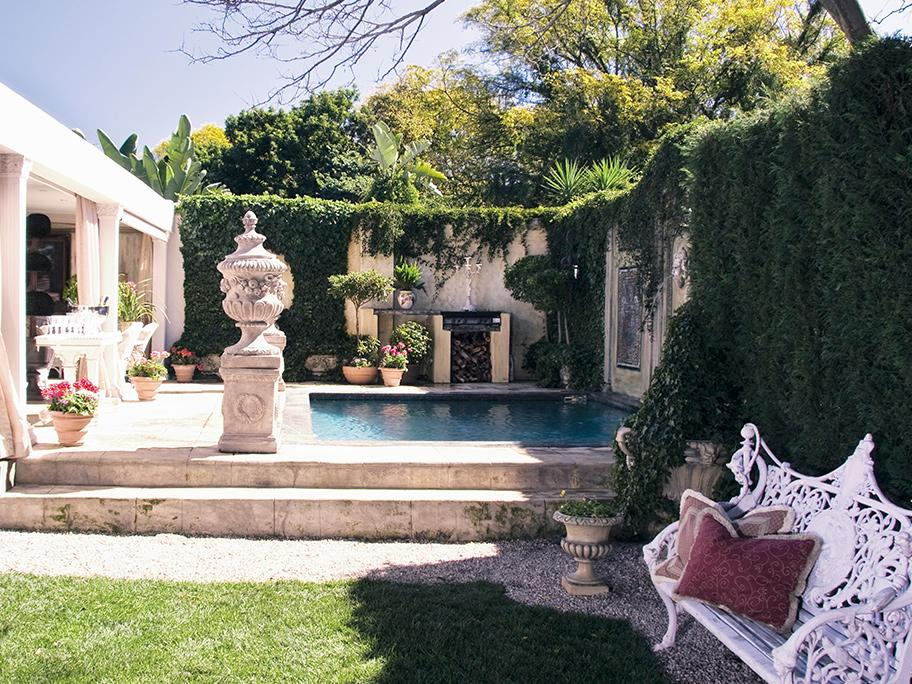 Ogród w romantycznej oranżerii