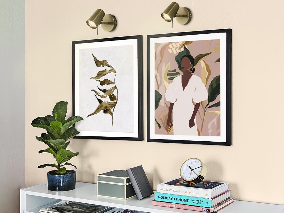 Obraz + lampa = piękna ściana