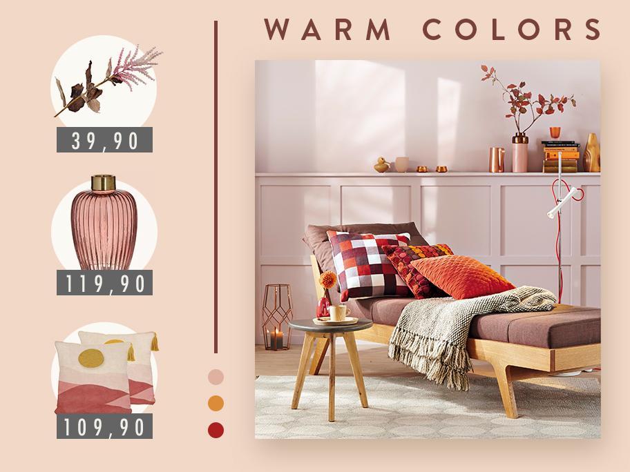 Color palette: WARM