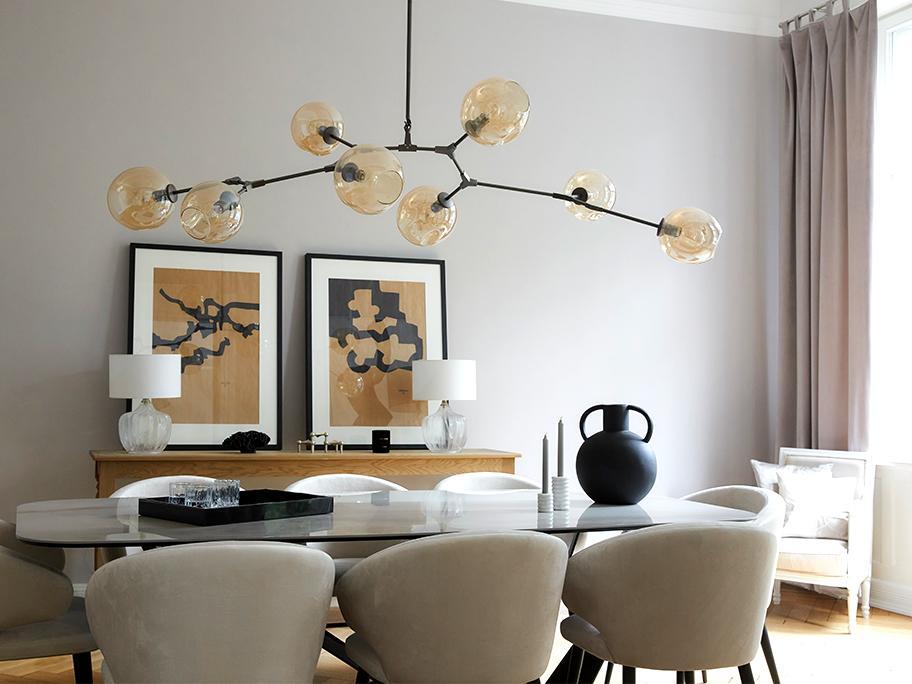Ako vybrať lampu nad stôl?