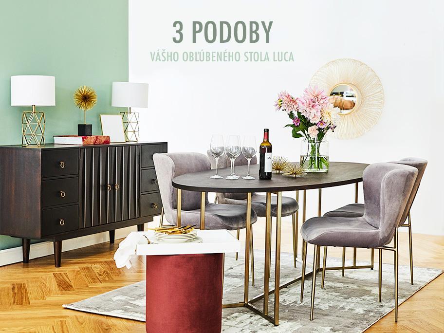 3x stôl Luca