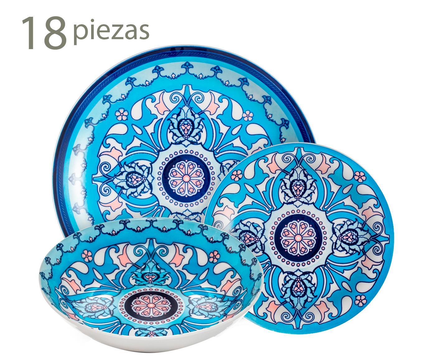 Vajilla En Porcelana Corfu - 18 Piezas