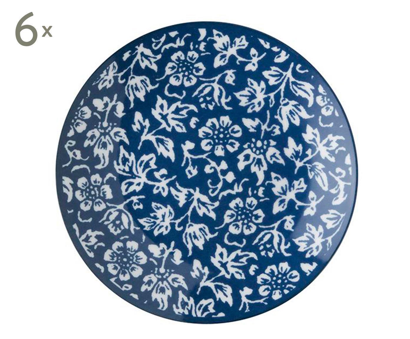 Set De 6 Platos De Pan En Porcelana Sweet Allysum