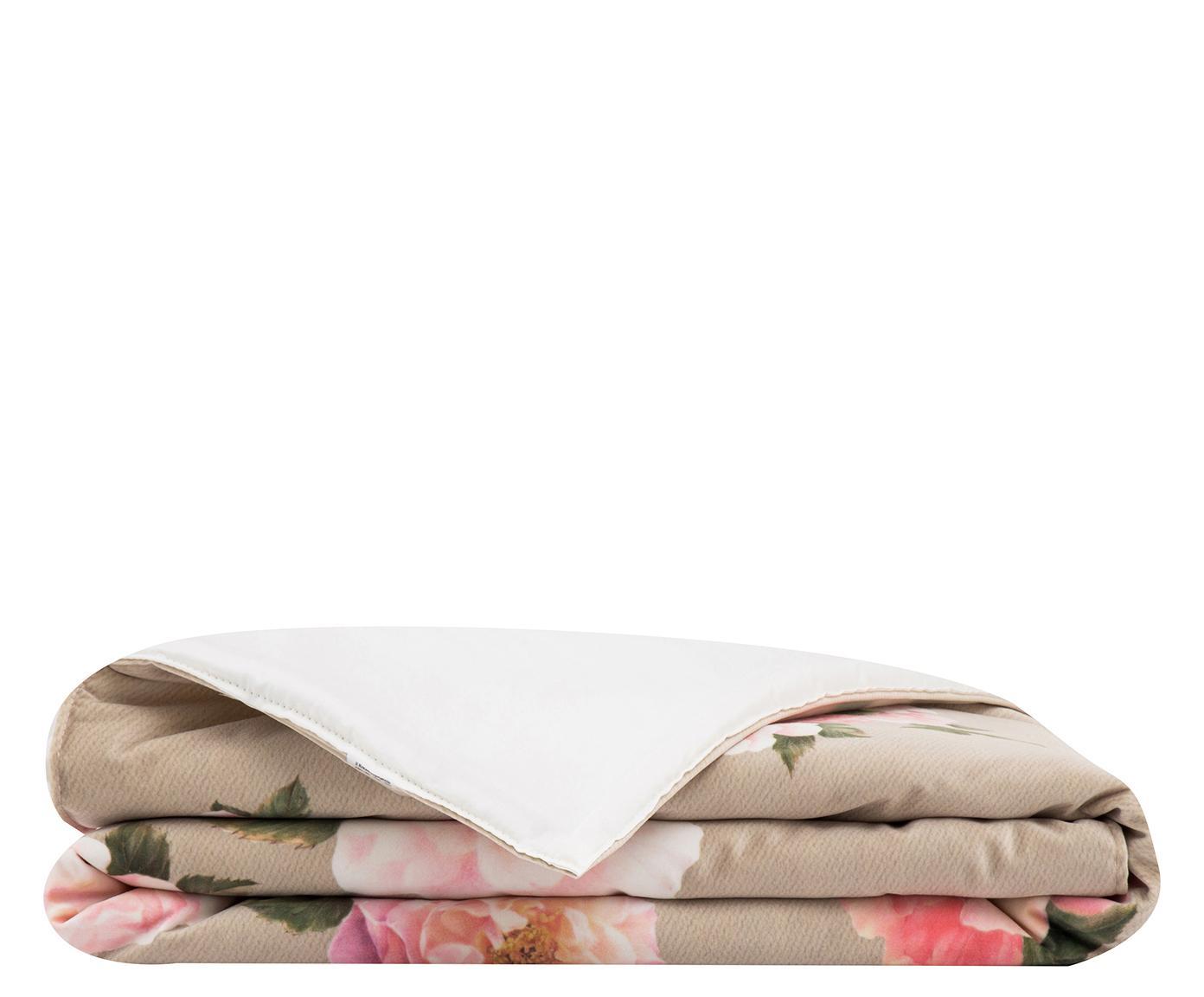 Plaid Rosa diva velluto tortora, 135x180 cm