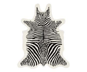 Tappeto in lana taftato a mano Savanna Zebra, 95x120 cm