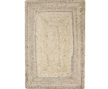 Alfombra artesanal en yute Sharmila, 90 x 60 cm