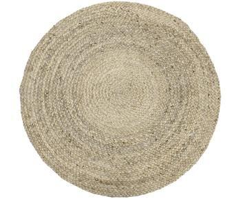 Alfombra redonda artesanal de yute Sharmila, Ø 100 cm