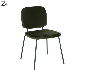 Set van 2 fluwelen stoelen Jasper