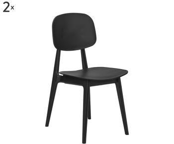 Set de 2  sillas de plástico Smilla