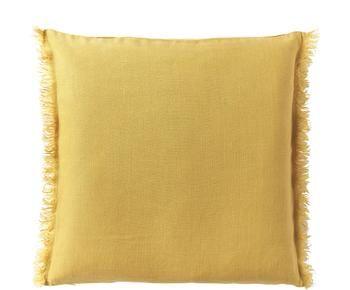 Funda de cojín de lino con flecos Luana, 50 X 50 cm