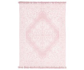 Alfombra artesanal de algodón con borlas Salima, 160 x 230 cm